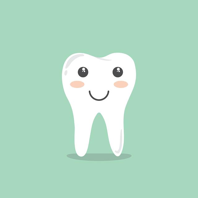 A clean set of teeth.