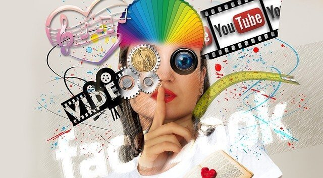 Digital marketing elements.