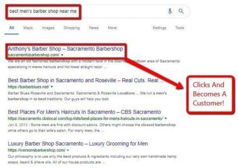 Local Google Search results.