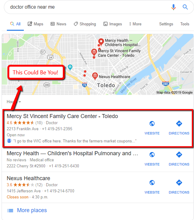 Google marketing for a doctor.