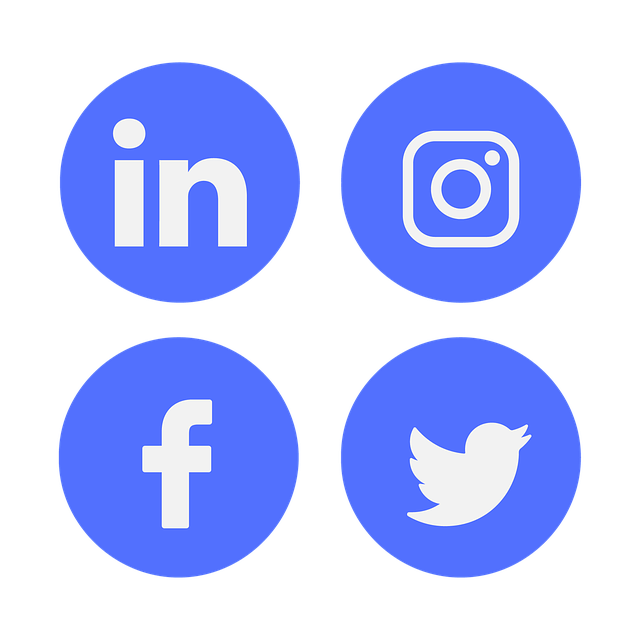 Different social media icons.